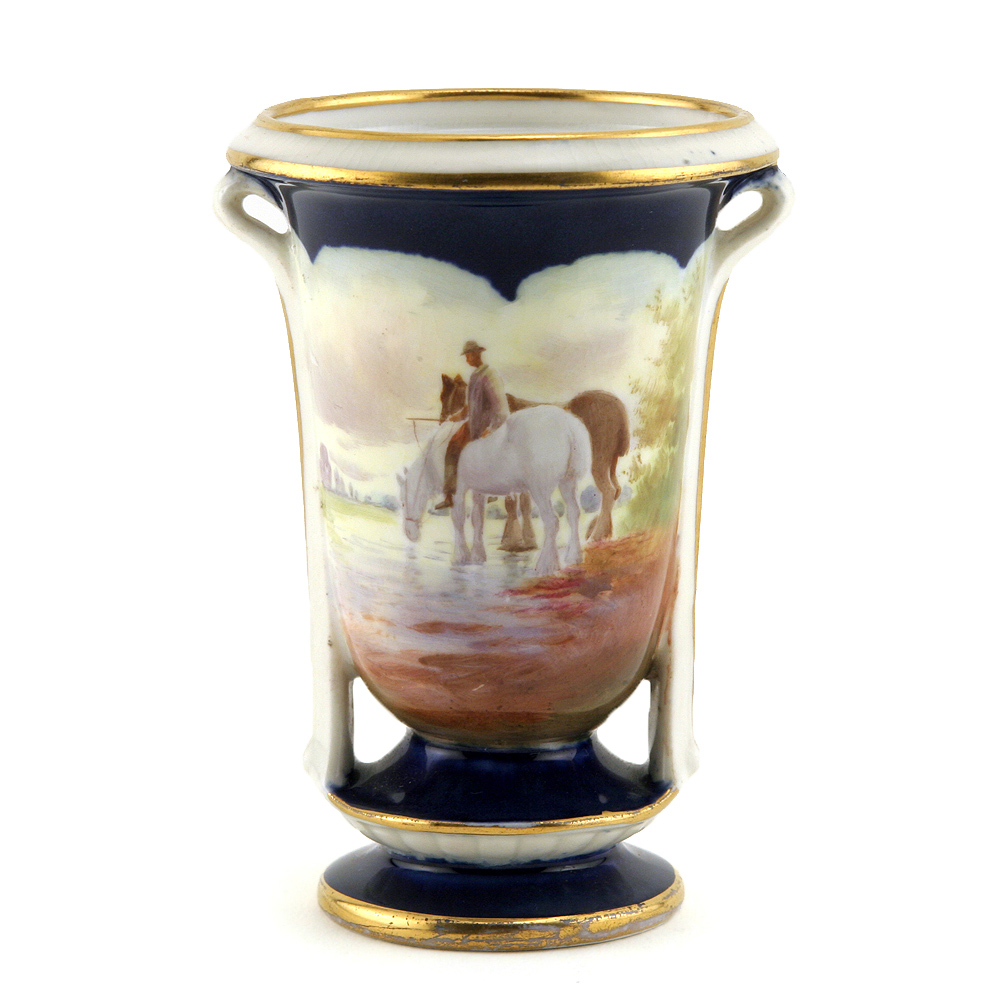 Vase Horses At Lake 4H - Royal Doulton