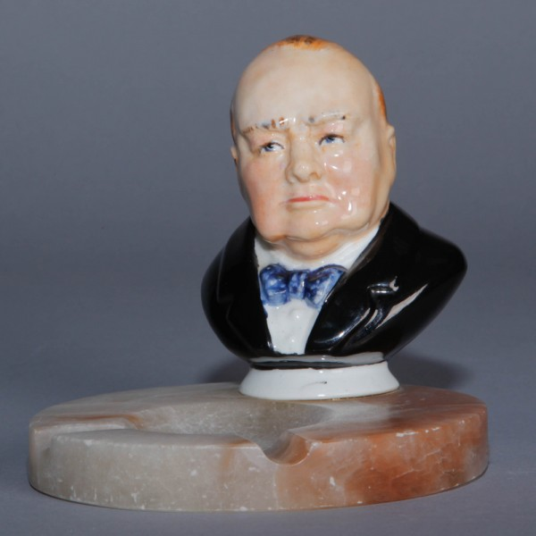 Churchill Bust on Ashtray