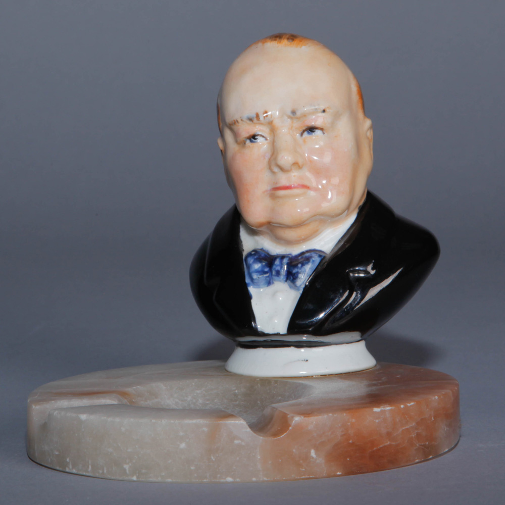 Churchill Bust on Ashtray