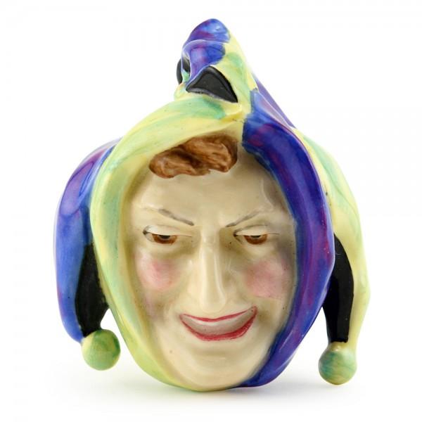 Jester Mask Mini - Blue Yellow HN1609 - Royal Doulton Mask