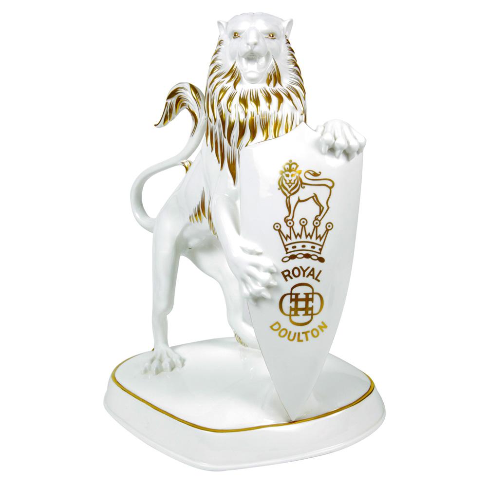 Royal Doulton White Lion (Harrods Display) - Royal Doulton Display Figure
