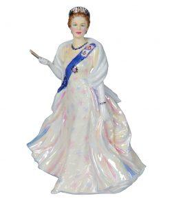 """Queen Elizabeth II """"Rainbow Dress"""" - John Bromley Fine Figurines Collection"""