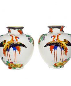 Vase Flamingos Pair 6_5H - Vase Pair