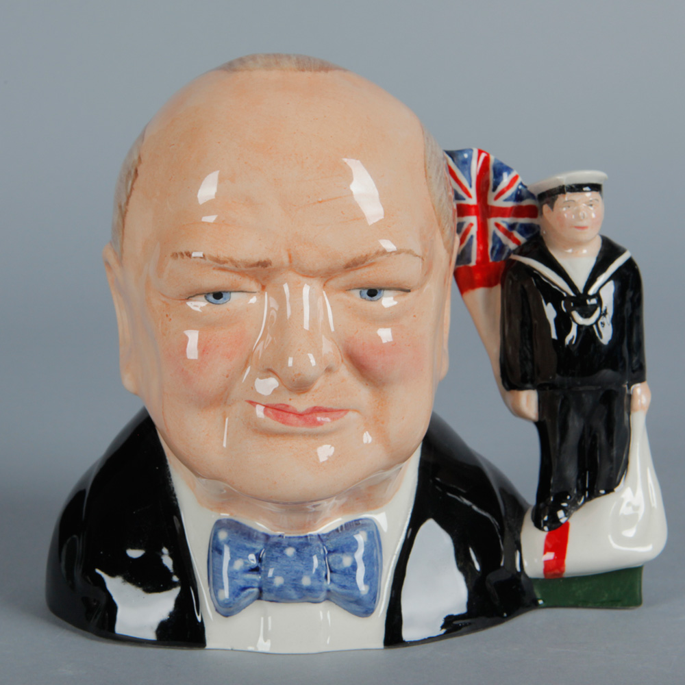 Winston Churchill Navy Jug