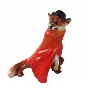 Character Fox with Stolen Goose Red Cloak HN1102 - Royal Doulton Animals