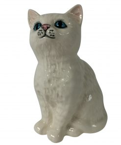 Persian Kitten White DA128 - Royal Doulton Animals