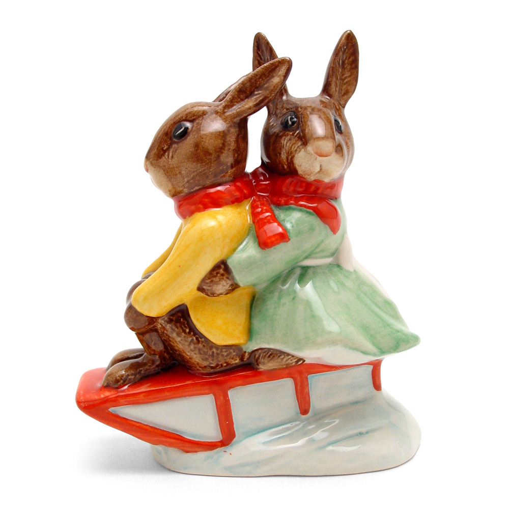 Billie and Buntie Sleighride DB81 - Royal Doulton Bunnykins