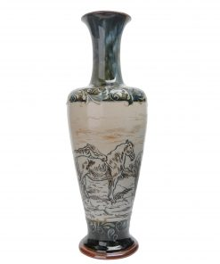 Vase with Horses - Barlow Stoneware