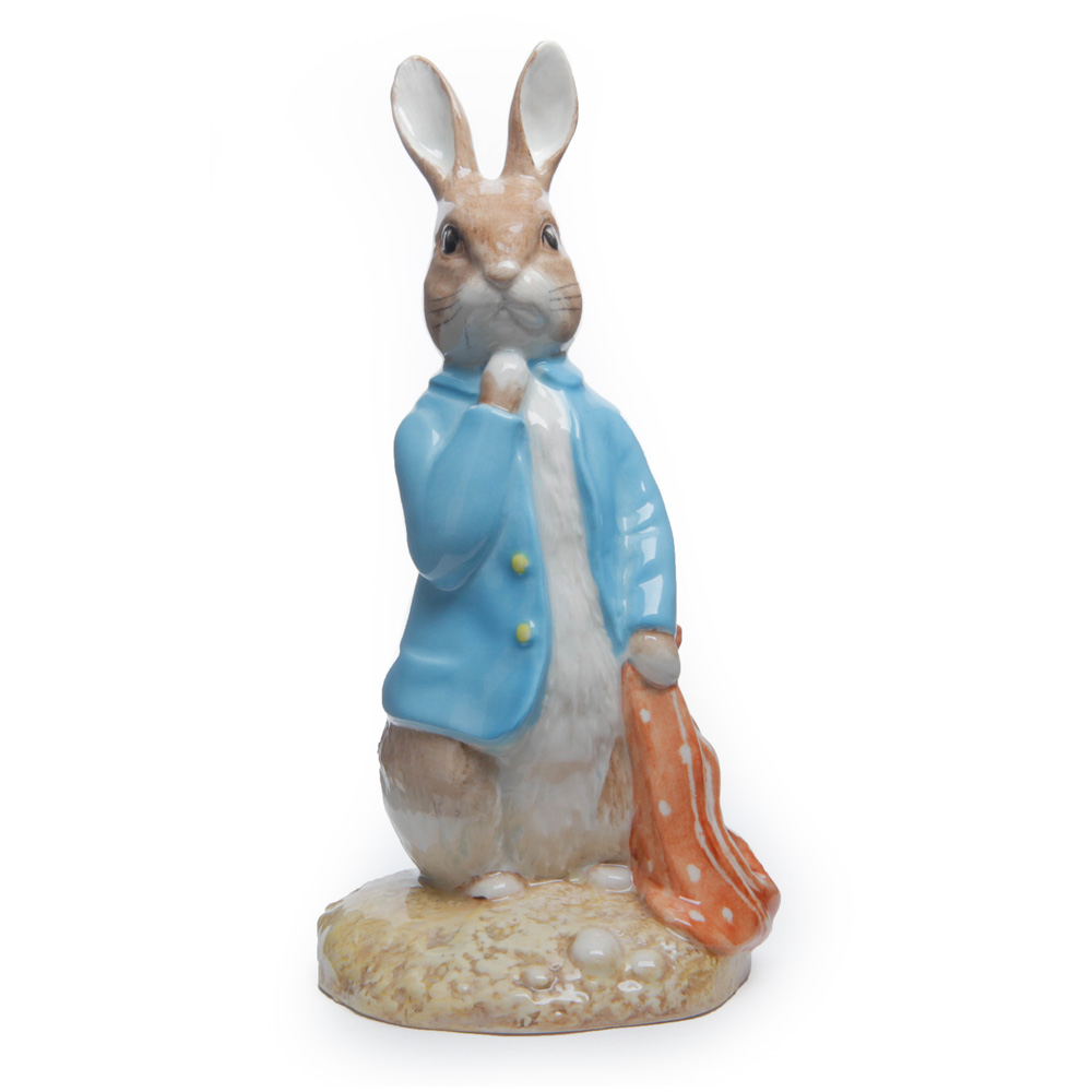 Peter and the Red Handkerchief (Large - with yellow buttons) - Beatrix Potter Figurine