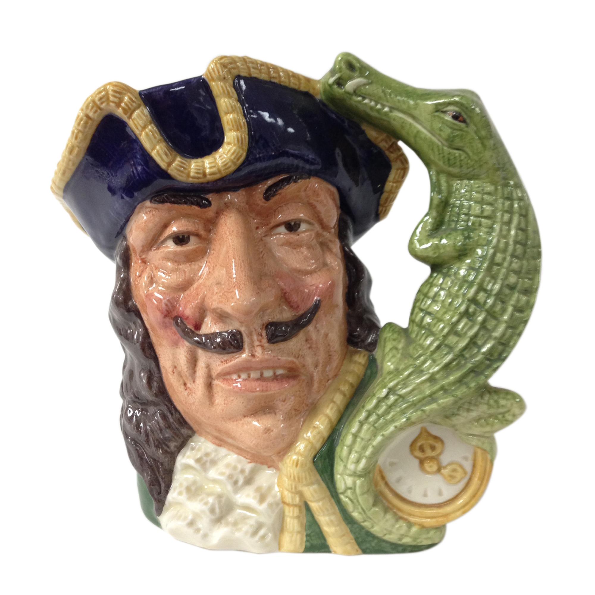 Capt Hook Clock Handle - Bone China D6597 - Large - Royal Doulton Character Jug