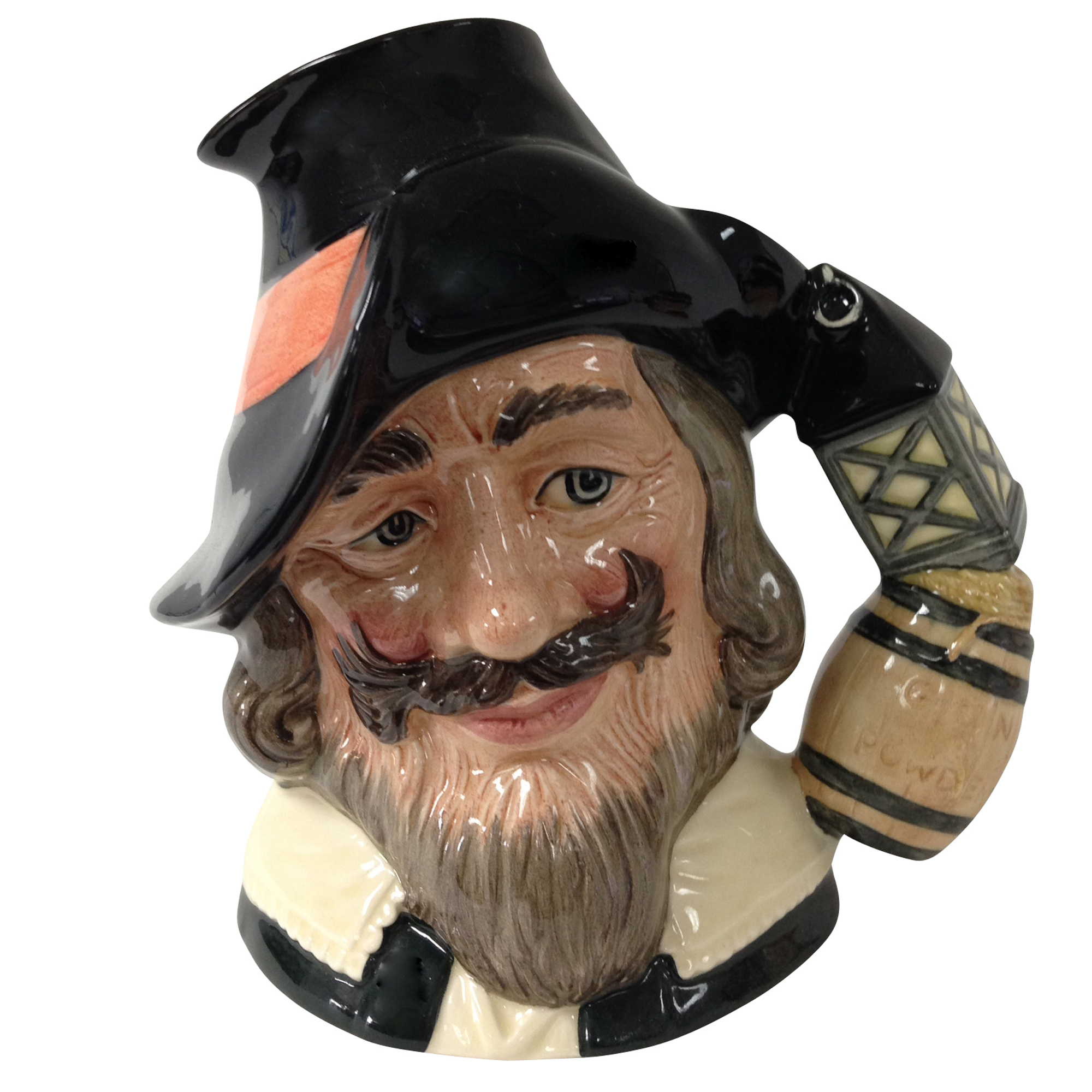 Guy Fawkes Canadian Art Backstamp D6861 - Large - Royal Doulton Character Jug