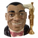 Louis Armstrong Prototype Variation - Gold Trumpet D6707 - Large - Royal Doulton Character Jug
