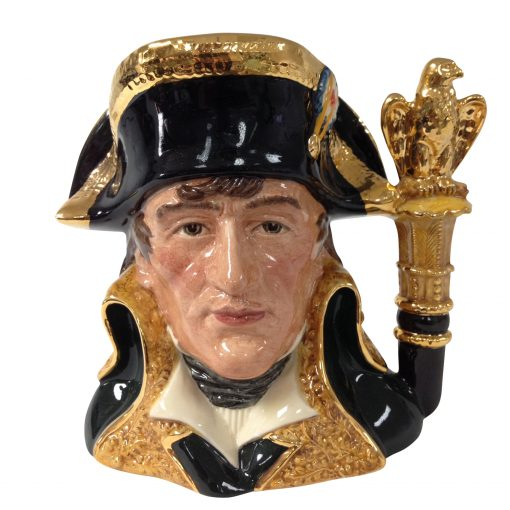 Napoleon Prototype Variation - Gold Handle D6941 - Large - Royal Doulton Character Jug