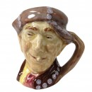Pearly Boy Pearl Buttons Tan Hat - Miniature - Royal Doulton Character Jug