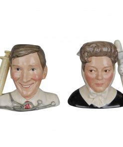 Hattie Jacques as Matron & Kenneth Williams as Dr. Tinkle D7172 & D7173 - Small - Royal Doulton Character Jug