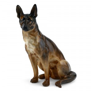 Alsatian Seated Without Collar HN921 - Royal Doulton Dog