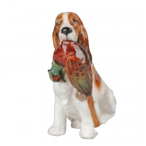 Cocker Spaniel with Pheasant HN1062 - Royal Doulton Dog