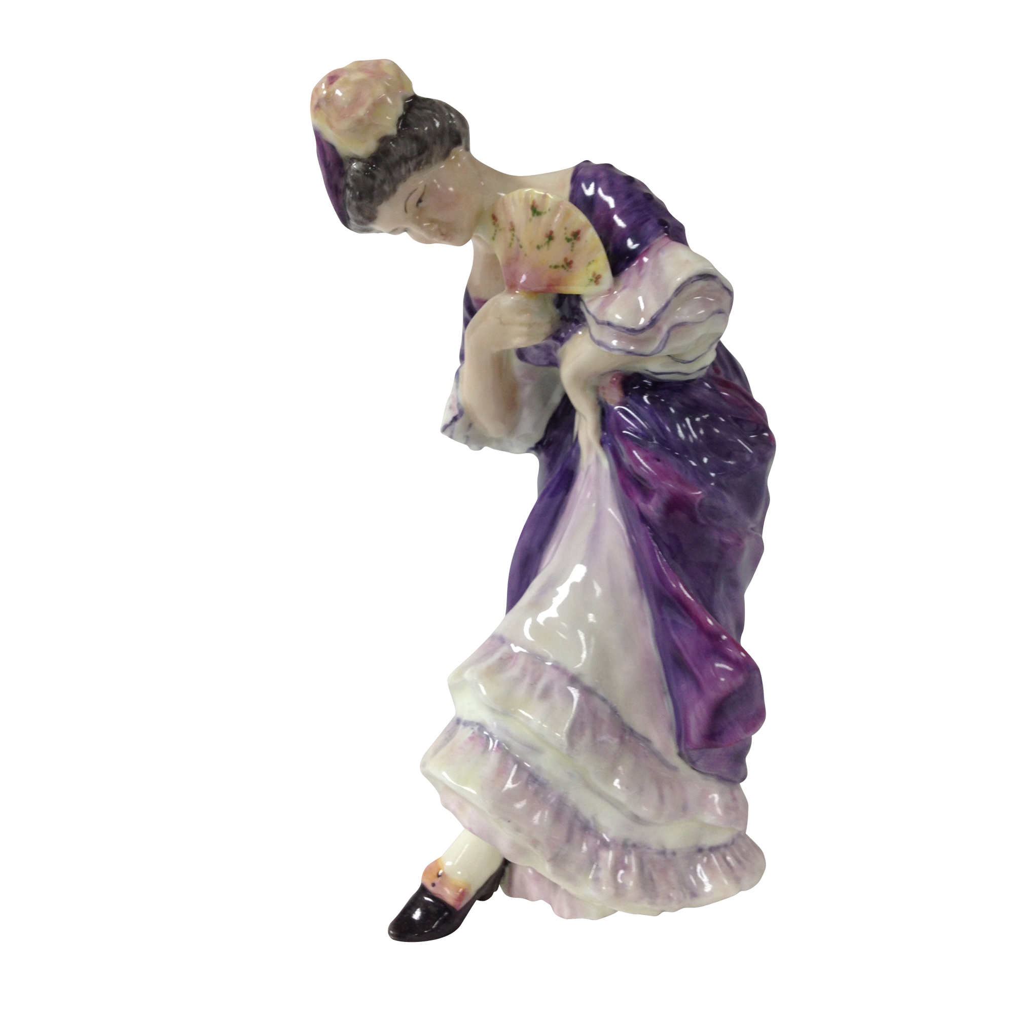 Lady with Fan - Royal Doulton Figurine