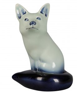 Fox Seated Blue HN147B - Royal Doulton Flambe