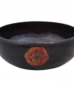 Sung Flambé Bowl with Circle Motif - Royal Doulton Flambe