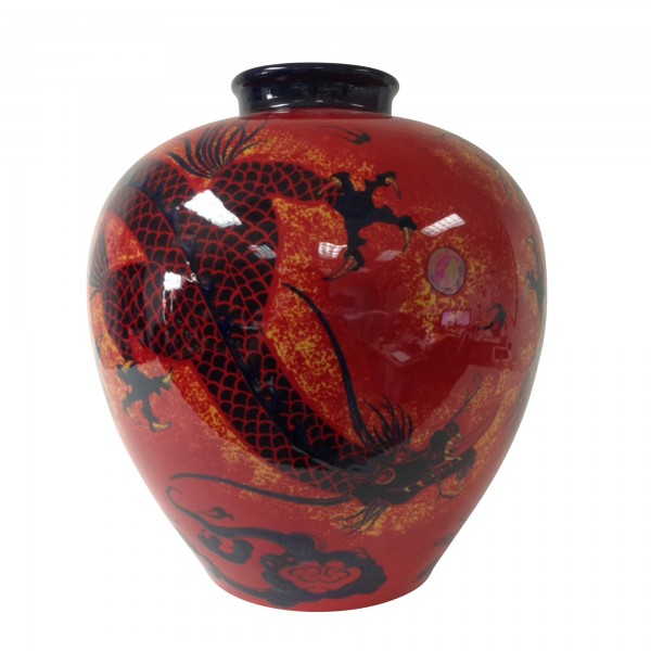 Flambé Sanming Dragon Vase BA16 - Royal Doulton Flambe