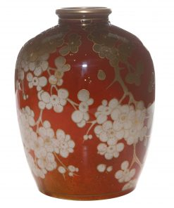 Flambé Vase with Dogwood Flowers - Royal Doulton Flambe