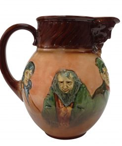 Airbrushed Dickens Pitcher - Royal Doulton Kingsware