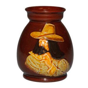 Kingsware Vase of Elizabethan Man with Large Hat - Royal Doulton Kingsware