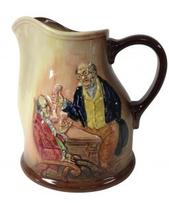 Airbrushed Mr. Pickwick Proposes a Toast Pitcher - Royal Doulton Kingsware