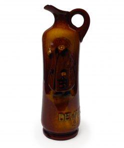 Kingsware Night Watchman Dewar's Scotch Bottle - Royal Doulton Kingsware