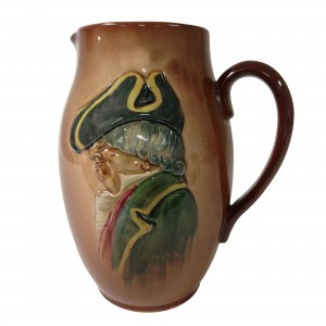 Airbrushed Parson Brown Pitcher - Royal Doulton Kingsware