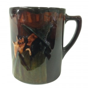 Kingsware Pied Piper Demitasse Cup - Royal Doulton Kingsware