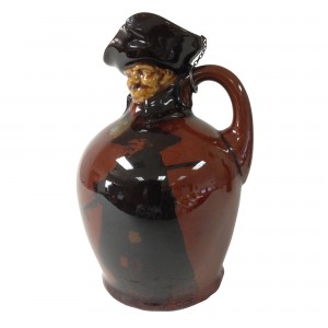 Kingsware Night Watchman Bottle with Modelled Head - Royal Doulton Kingsware