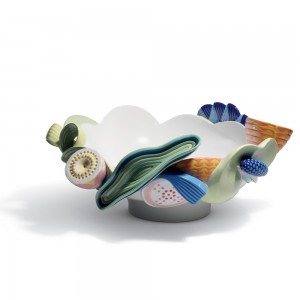Multi-colored Naturofantasic Centerpiece (Bowl) 1007917 - Lladro Centerpiece