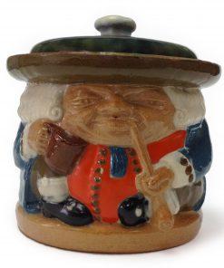 Simeon Lidded Tobacco Jar Somber Face LJSOM12 - Simeon Toby