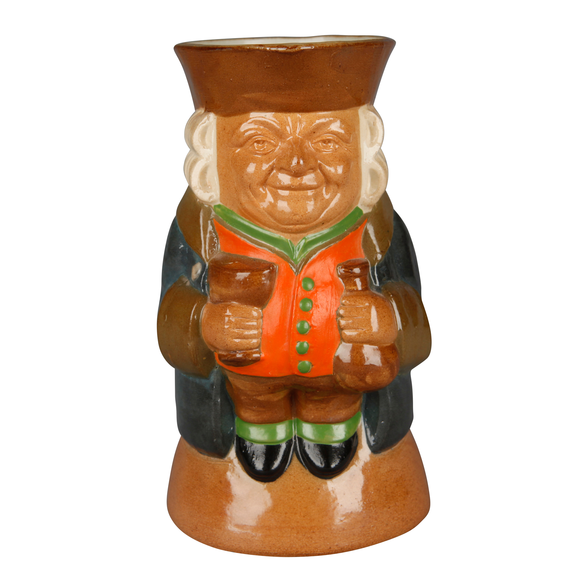 Simeon Toby Jug - Standing Man Smiling Color Variation SMCV7 - Simeon Toby