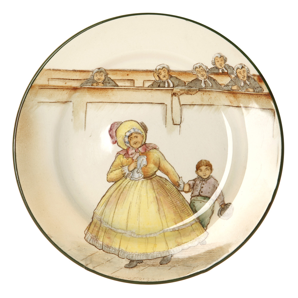 Dickens Mrs Bardell Plate 7Dia. - Royal Doulton Seriesware