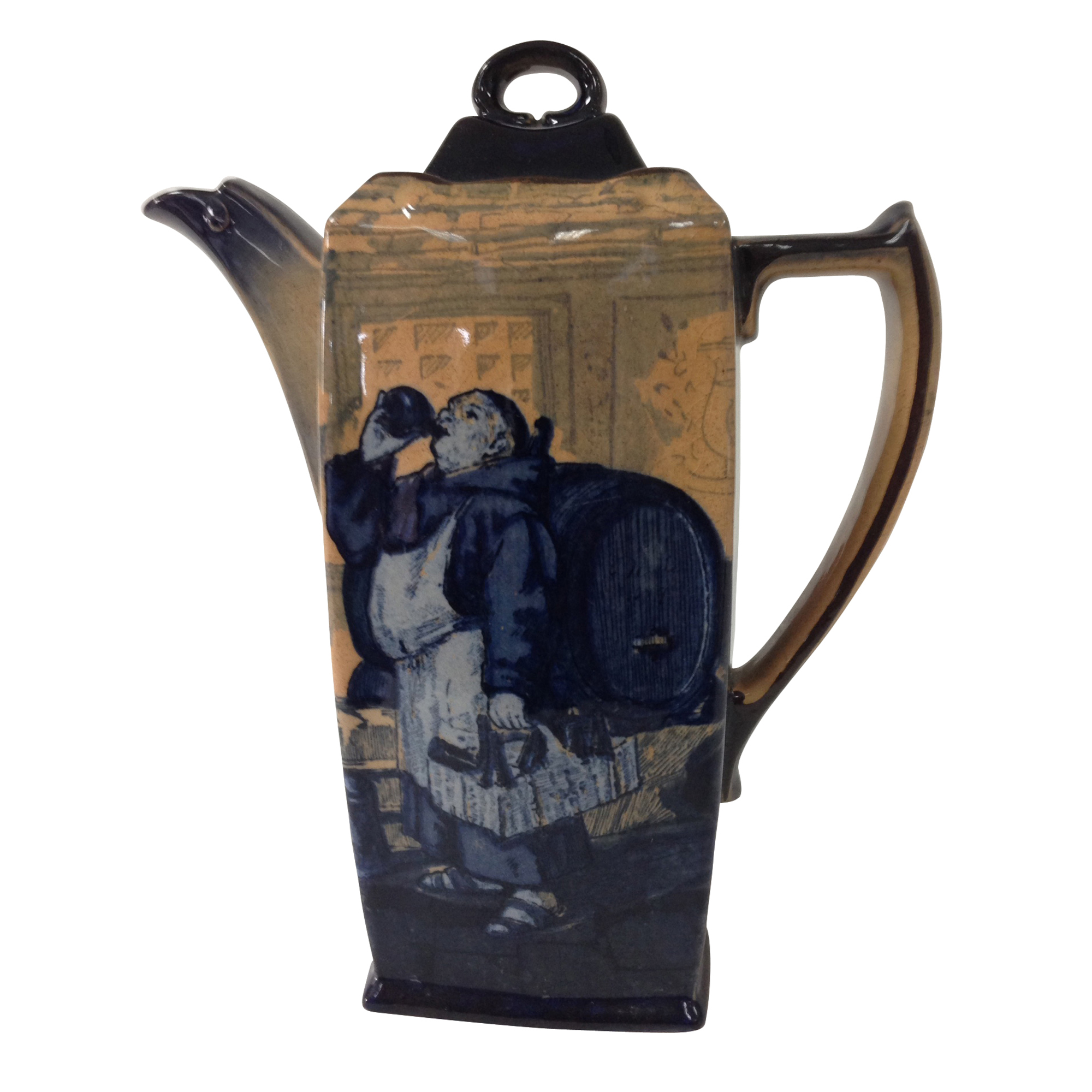 Monks in the Cellar Coffee Pot - Royal Doulton Seriesware