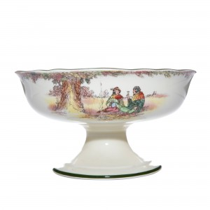 "Robin Hood ""Under the Greenwood Tree"" Pedestal Bowl - Royal Doulton Seriesware"