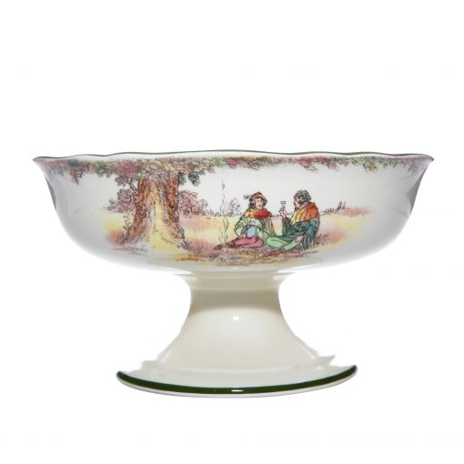 "Robin Hood ""Under the Greenwood Tree"" Pedestal Bowl - Royal Doulton Seriesware"