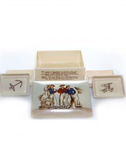 Sea Shanty Lidded Box with Trays - Royal Doulton Seriesware