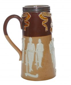 "Stoneware Bicycling Tankard ""Speed Wheel"