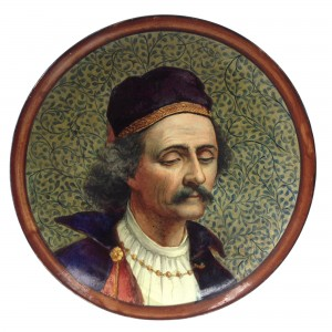 Doulton Lambeth Faience Plaque of Venetian Merchant