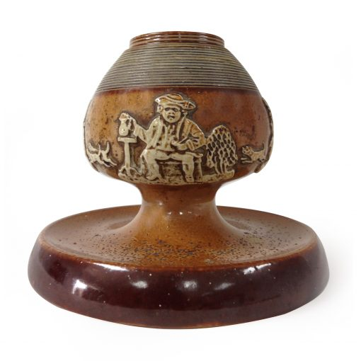 Doulton Lambeth Stoneware Hunting Relief Matchstriker