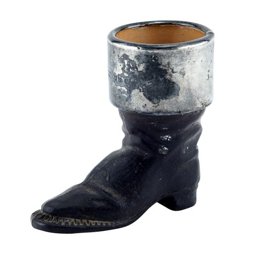 Doulton Lambeth Stoneware Boot Match Holder