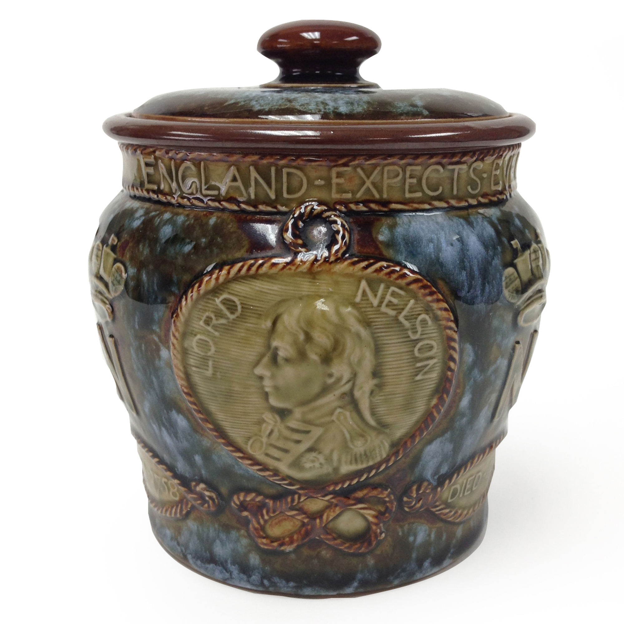 Royal Doulton Stoneware Lord Nelson Tobacco Jar