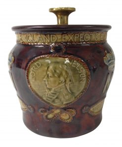 Royal Doulton Stoneware Lord Nelson Tobacco Jar with Brass Lid