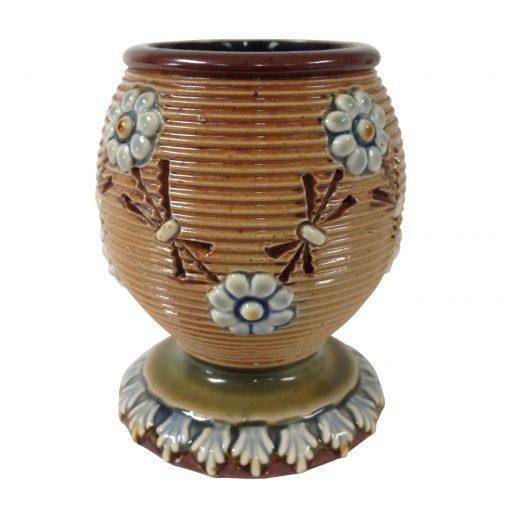 Royal Doulton Stoneware Match Holder Floral Pattern
