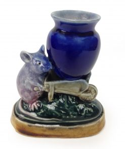 George Tinworth Mouse - Vase in Wheelbarrow - Royal Doulton