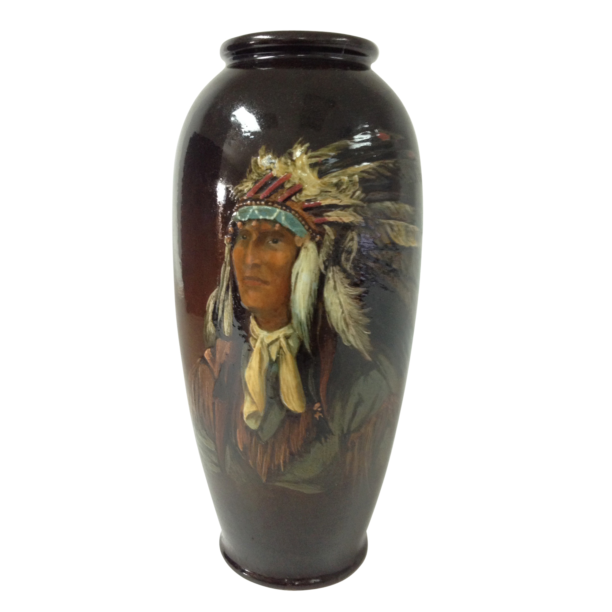 American Indian Hand Painted Vase by Tittensor - Royal Doulton